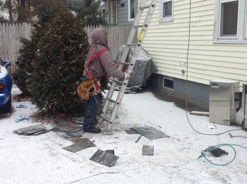 roofing-at winter